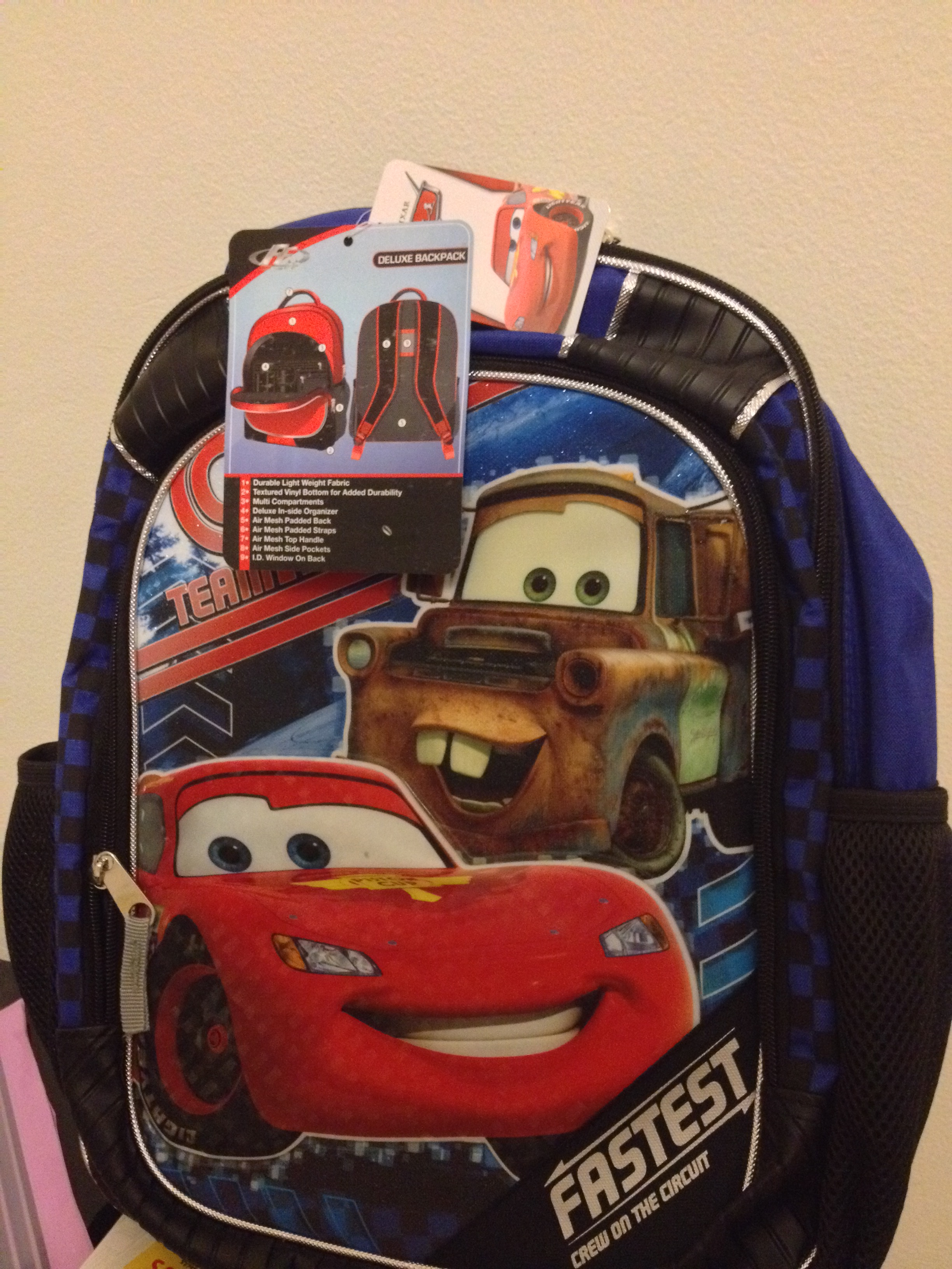 Pixar CARS Kids Backpack