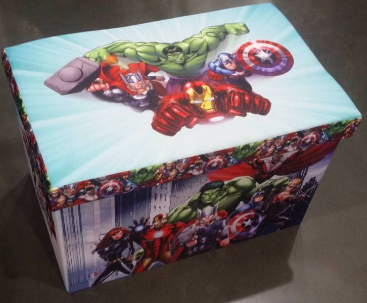 Marvel Avengers Foldable Storage Bench Toy Box Boxes Kids